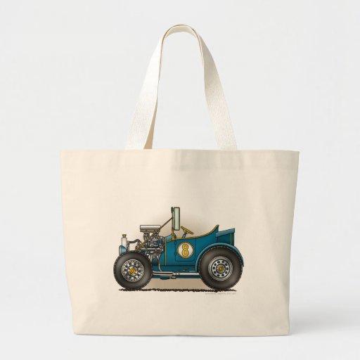 Blue Hot Rod Car Bags/Totes