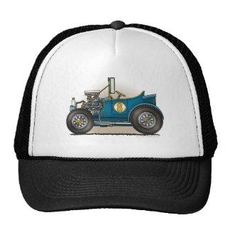 Blue Hot Rod Car Hats