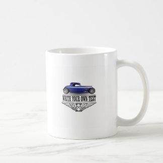 blue hot rod coffee mug