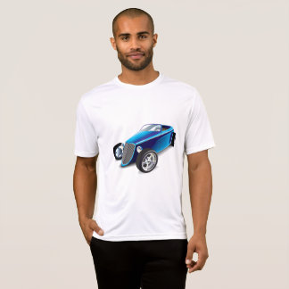 Blue Hot Rod Mens Active Tee