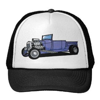 Blue Hot Rod Truck Mesh Hats