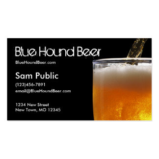 Blue Hound Beer Business Card