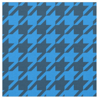 Blue Houndstooth Fabric