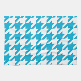 Blue Houndstooth Tea Towel