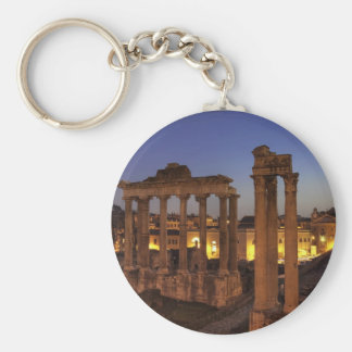 Blue hour at the Forum Romanum, Rome Key Ring