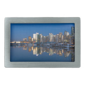 Blue Hour Reflection of Vancouver BC Belt Buckles
