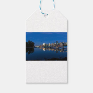 Blue Hour Reflection of Vancouver BC Gift Tags
