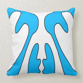 Blue Hourglass Pattern Design Cushion