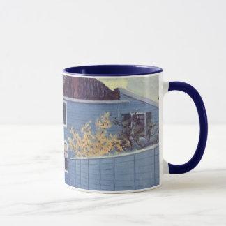 Blue House at Zaandam by Claude Monet, Vintage Art Mug