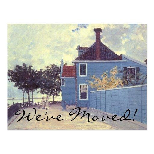 Blue House at Zaandam by Monet, Change of Address Postcards