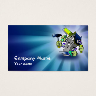 Blue House Repairman Service Business Card