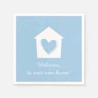 Blue Housewarming Party Paper Napkin Set
