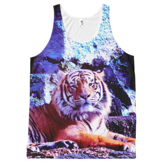 Blue Hudson Tiger All-Over Print Tank Top