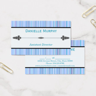 Blue Hue Striped Appointment or Business card