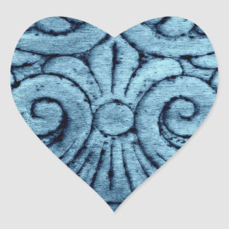Blue Hue Swirls Stickers