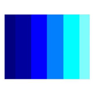 Blue Hues - STRIPES! Postcard