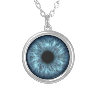 Blue Human Eye Necklace