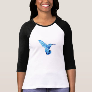 Blue hummingbird long-sleeve tee