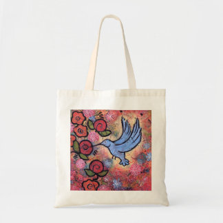 Blue Hummingbird Tote