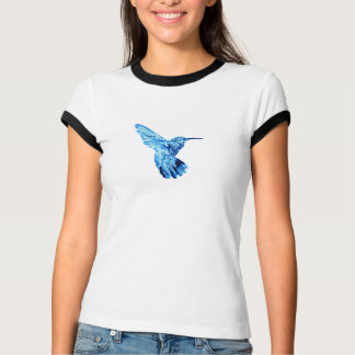 Blue hummingbird women's tee