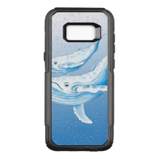 Blue Humpbacks Waterdrops OtterBox Commuter Samsung Galaxy S8+ Case