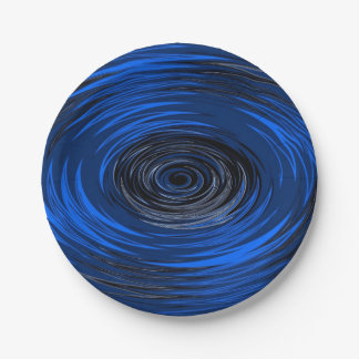 Blue Hurricane 7 Inch Paper Plate