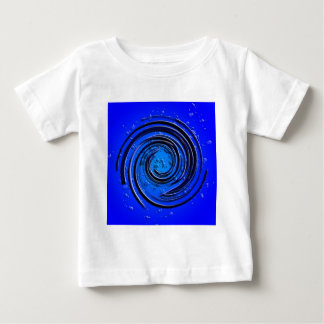 Blue Hurricane Swirl Baby T-Shirt