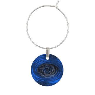 Blue Hurricane Wine Charm