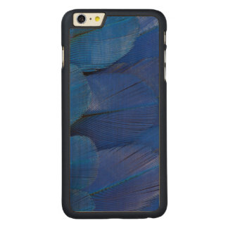 Blue Hyacinth Macaw Feather Design Carved Maple iPhone 6 Plus Case