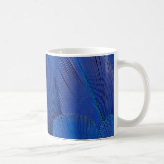 Blue Hyacinth Macaw Feather Design Coffee Mug
