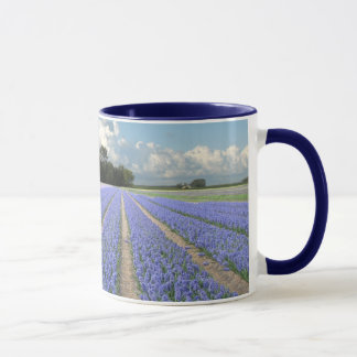 Blue Hyacinths in a Field Holland Mug