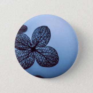 Blue Hydrangea 6 Cm Round Badge