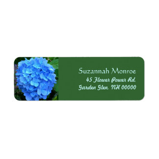 Blue Hydrangea Address Labels