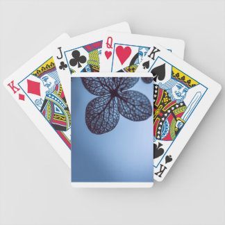 Blue Hydrangea Bicycle Playing Cards