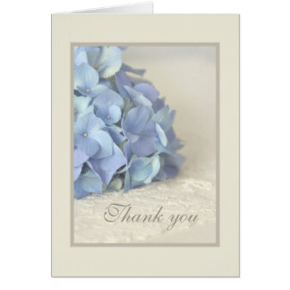 Blue Hydrangea Bridal Shower Thank You Card