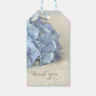 Blue Hydrangea Bridal Shower Thank You Gift Tags