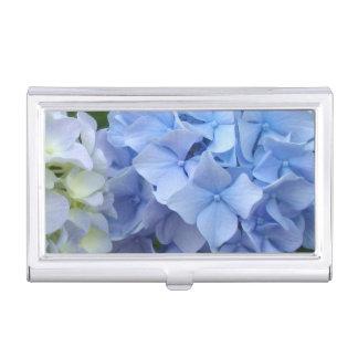 Blue Hydrangea Business Card Holder