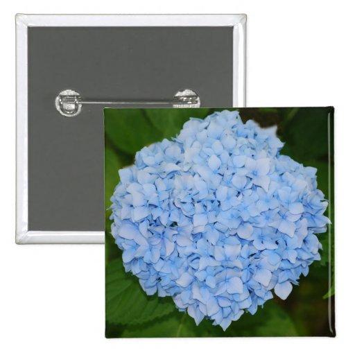Blue Hydrangea Button