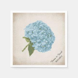 Blue Hydrangea Custom Wedding Napkins Disposable Napkins