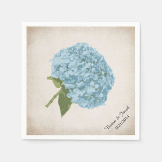 Blue Hydrangea Custom Wedding Napkins Disposable Serviette