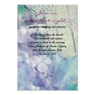 BLUE HYDRANGEA & DRAGONFLY Bat Mitzvah Party Card Announcement