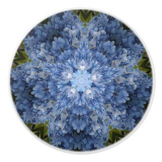 Blue Hydrangea Drawer Knob
