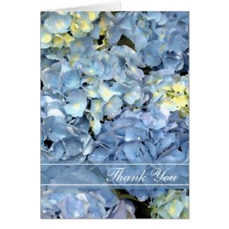 Blue Hydrangea Floral Bridesmaid Thank You Card