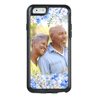 Blue Hydrangea Floral Photo Border OtterBox iPhone 6/6s Case