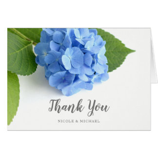 Blue Hydrangea Floral Thank You Card