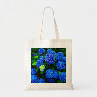 Blue Hydrangea Floral Tote Bag