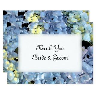Blue Hydrangea Floral Wedding Flat Thank You Notes 9 Cm X 13 Cm Invitation Card