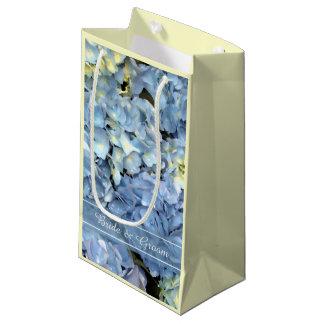 Blue Hydrangea Floral Wedding Small Gift Bag