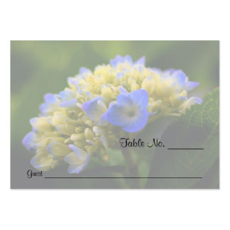 Blue Hydrangea Floral Wedding Table Place Cards Business Card Templates