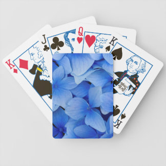 Blue Hydrangea Flowers Bicycle Playing Cards